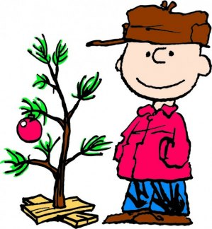 artwork by Charles M. Schulz Charlie Brown and Christmas Tree
