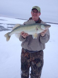 contributed photo Winter fun This Walleye was caught by Newsleader photography Kelly Brown Jan. 19 on a recent trip to Lake Winnepeg, Canada. It weighed 10 pounds 6 ounces. The fish was put back for someone else to catch.