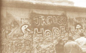photo by Kelli Birk Jacob's Hope emblazoned on the western side of the Berlin Wall.