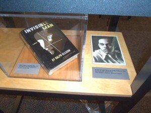 photo by Dennis Dalman This first edition of Invisible Man by Ralph Ellison (right) is considered one of the very greatest worldwide novels of the 20th Century. It is one of the displays at an exhibition featuring black life and culture before the Civil Rights Era, now showing at the Stearns HIstory Museum.