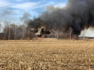 Brush Fire in St. Wendel Township